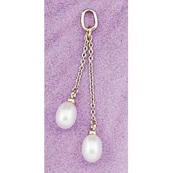 Pendentif plaqué or perles d'eau douce