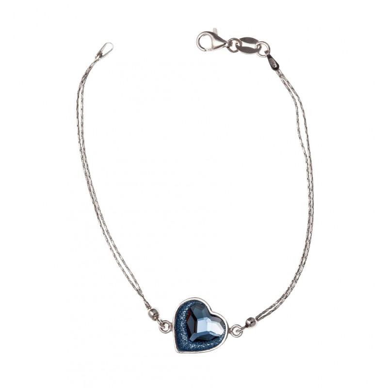 Bracelet argent coeur swarovski