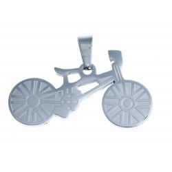 """Pendentif - acier """"vélo"""""""