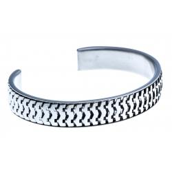 Bracelet - acier ouvert - 65 mm