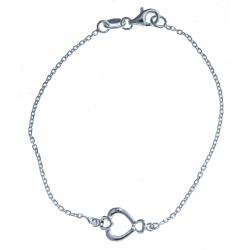 """Bracelet en argent 2g """"cœur"""" - 18,5 cm"""