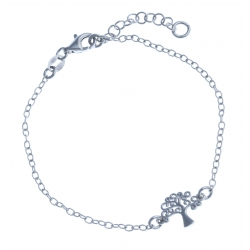 """Bracelet en argent rhodié 2g """"arbre de vie"""" - 16,5 + 3 cm"""