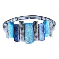 Bracelet fantaisie - époxy - résine - élastique