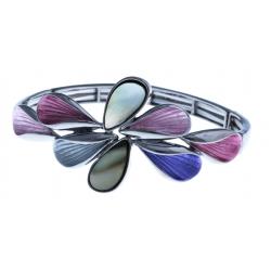 Bracelet fantaisie - époxy - nacre - élastique