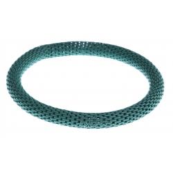 Bracelet fantaisie mailles vertes - réglable