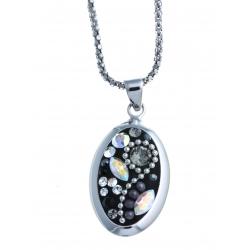 Parure en argent rhodié 10,5g - cristal de swarovski -SW438 à 22,5€-538 à 24,5€