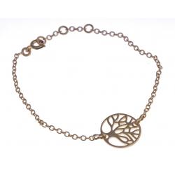 """Bracelet plaqué or """"arbre de vie"""" - 17+1+1cm"""