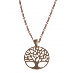 "Collier plaqué or ""arbre de vie"" - 45 cm"