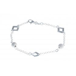 """Bracelet argent 3,4g """"boules diamantées"""" - 18,5cm"""