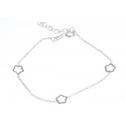 """Bracelet argent 1,6g """"fleurs"""" - 16+3cm"""