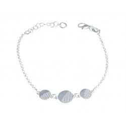 """Bracelet argent 3,4g """"3 ronds"""" - 16+2,5cm"""
