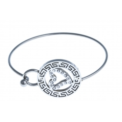 Bracelet acier - strass - 60mm
