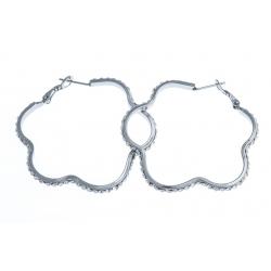Boucles d'oreille acier - zircons