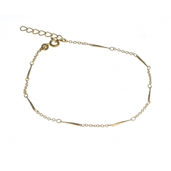 Chaine cheville plaquée or - 22+3cm
