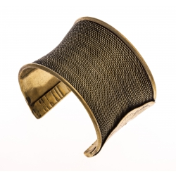 Manchette fantaisie métal doré - hauteur 48 cm
