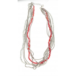 Collier fantaisie multi-rangs - 44+6 cm