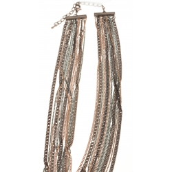 Collier fantaisie multi-rangs - 41+9 cm