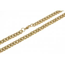 Chaîne acier doré - homme - 60 cm