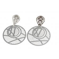 Boucles d'oreille acier - diamètre 40 mm