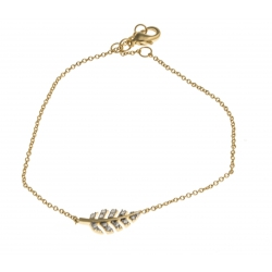 Bracelet plaqué or - zircons -17+1+1cm