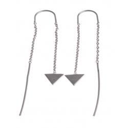 Boucles d'oreille argent rhodié 1,2g