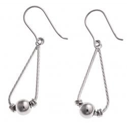 Boucles d'oreille argent rhodié 2,8g