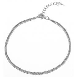 Bracelet en argent rhodié 4,2g pour CHARMS - 19+3 cm