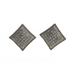 Boucles d'oreille argent rhodié 3,4g - zircons