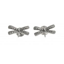 Boucles d'oreille argent rhodié 1,8g - zircons
