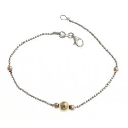 Bracelet argent rhodié 2,5g - 3 tons - 19 cm