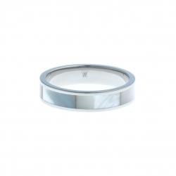 Anneau interne SCREW - acier - nacre blanche - 5 mm - T 57 à 65