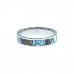 Anneau interne SCREW - acier - nacre abalone - 5 mm - T 57 à 65
