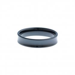 Anneau interne SCREW - céramique noire incurvée - 5 mm - Taille 57 à 65