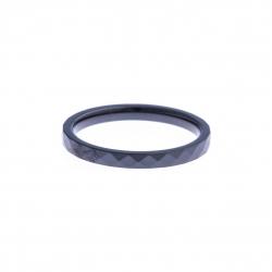Anneau interne SCREW - céramique noire facettée - 2,5 mm – Taille 55 à 65