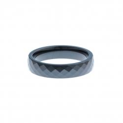 Anneau interne SCREW - céramique noire facettée - 5 mm - Taille 57 à 67