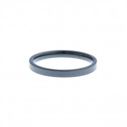 Anneau interne SCREW - céramique noire - 2,5 mm - Taille 55 à 65