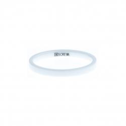 Anneau interne SCREW - céramique blanche - 2,5 mm - Taille 55 à 65