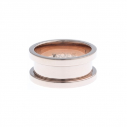 Bague support SCREW - 10 mm - acier rosé - Taille 50 à 60