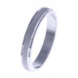 Alliance argent rhodié 2,5g - diamantée - 3mm - T 50 à 68