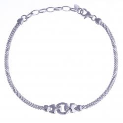 Bracelet argent rhodié 2,9g - 17+3cm