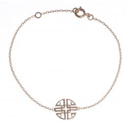 """Bracelet plaqué or - """"sérénité - 16+2cm"""