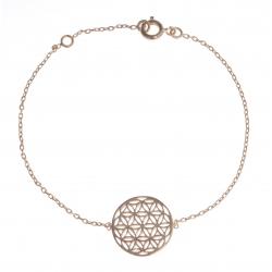 """Bracelet plaqué or - """"fleur de vie"""" - 16+2cm"""