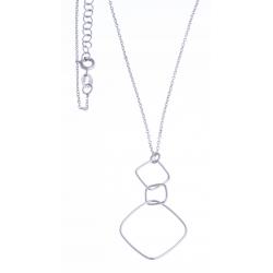 Collier argent rhodié 2,1g - 42+3cm