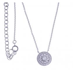 Collier argent rhodié 3g - 40+5cm