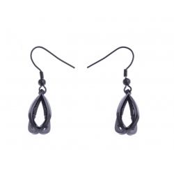 Boucles d'oreille acier noir