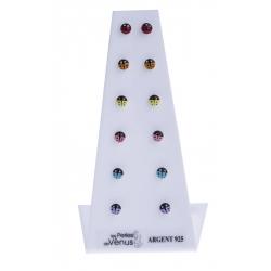 Présentoir 6 bos 3g - coccinelles multicolores