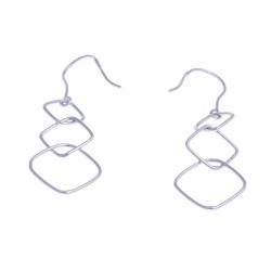 Boucles d'oreille argent rhodié 1,3g