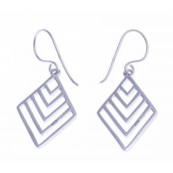 """Boucles d'oreille argent rhodié 2,4g - """"triangle"""""""