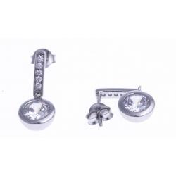 Boucles d'oreille argent rhodié 2,8g - zircons
