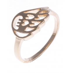 """Bague plaquée or - """"aile"""" - T 50 à 60"""